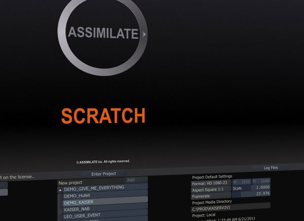 Assimilate Scratch TPG and LUTs